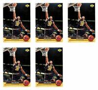 (5) 1992-93 Upper Deck McDonald's Basketball #P40 Karl Malone Card Lot