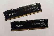 Kingston HyperX Fury 16 GB DDR4 Kit Arbeitsspeicher HX426C15FBK2/16 gebraucht