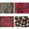 "Dress Upholstery Poly Viscose Tartan Fabric 150cm 59"" Wide Check Per Metre"