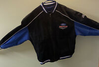 Vtg Ford Racing 100% Leather Bomber Jacket Size XXL 🚙 Excellent Condition!!