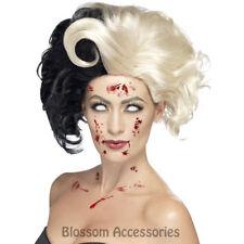 W413 Cruella De Ville Wig Zombie Evil Madame 101 Dalmatian Costume Accessory