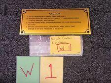 Aircraft Vehicle Caution Hose Instruction Plate Sign Aluminum Military Label