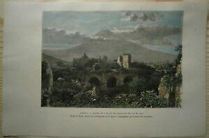 1891 Reclus print ANTIGUA GUATEMALA, GUATEMALA (#28)