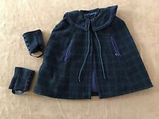 Pleasant Company Samantha plaid cape & gaiters  American Girl outfit coat doll