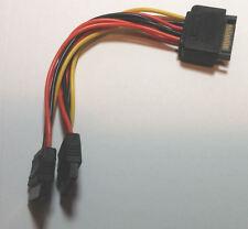 SATA Power Y Cable (15pin SATA to 2 x 15pin SATA Power) GC15152-6