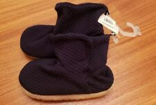NWT Old Navy Toddler Boys  SZ 11 Quilted Jersey Bootie Slippers NAVY BLUE #32117