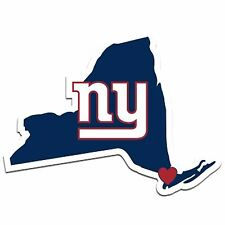 NFL New York NY Giants Home State Auto Car Window Vinyl Decal Sticker