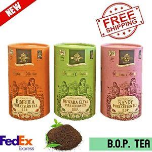 Ceylon BOP Tea STEUARTS Fresh Herbal Powder Black 1 Pure Loose Leaf Organic 100%