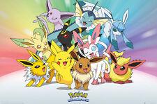 POKEMON Poster - EEVEE Gotta Catch 'em All - New Pokemon gaming poster FP4361