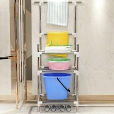 Storage Holders Three Layer Non Folding Space Saving Floor Type Bathroom Rack