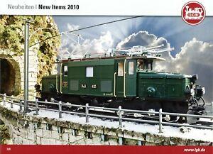 LGB Neuheiten New Items 2010 Prospekt D GB Modelleisenbahn brochure model rail