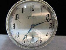 white Gold Filled Open Faced Gruen Semithin Pocket Watch 14kt