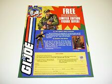 GI JOE JOE COLTON ORDER FORM Vintage Free Limited Edition Figure Offer 1993