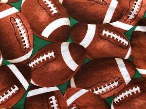 "Pillowcase Standard Handmade Football Theme 20"" x 30"" Brown Black Green White"