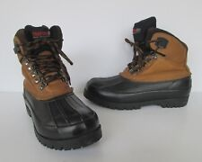 Northwest Territory Womens Leather and Rubber Waterproof Winter Boots 7 M