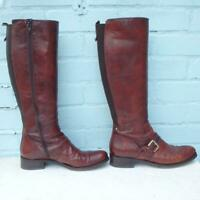 Pied a Terre Leather Boots Size Uk 7 Eur 40 Womens Elasticated Sexy Brown Boots