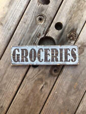 Handmade wood sign. Groceries. farmhouse fixer upper style decor rustic