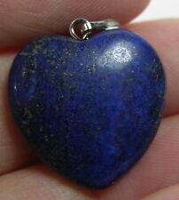 #29 20.00ct Afghanistan 100% Natural Lapis Lazuli Heart Shape Pendant 4.00g 20mm