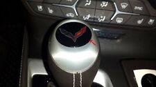 C7 Corvette Stingray 2014+ Automatic Shift Knob Crossed Flags Decal - 3D Gel