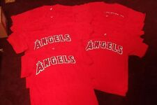 NEW LOS ANGELES ANGELS BLANK YOUTH MAJESTIC TEAM JERSEY T-SHIRT TEE YOUTH LARGE