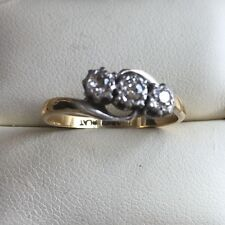18CT Yellow Gold Diamond Engagement Ring,  Hm 375 Size N, Weight 2.5g