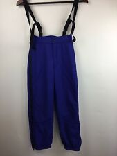 Patagonia Kids Ski Snow Pants Bib Girls Size 10 Purple Overalls Adjustable *FLAW