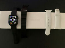 Apple Watch Series 4 44 mm Space Gray Aluminum Case with Black Sport Band...