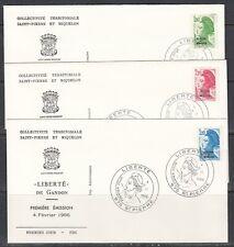 St Pierre & Miquelon Scott 460/4 FDC - 1986 Definitive Issue