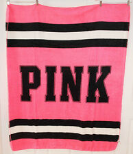 Victoria's Secret PINK Stadium Fleece Blanket *Pink* NEW W/O TAG *Super Soft*