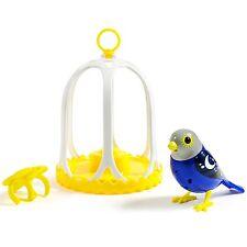 DigiBirds - Singing Bird with Bird Cage Series 2 - Twilight - Navy Blue/Grey