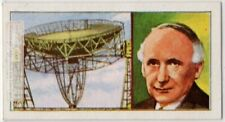 Bernard Lovell Astronomer Physicist RadioTelescopt Space Vintage Trade Ad Card