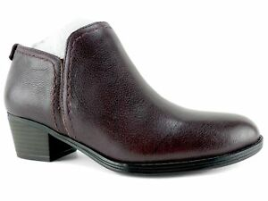 Naturalizer Women's Zarie Booties Aubergine Leather Size 6.5 W
