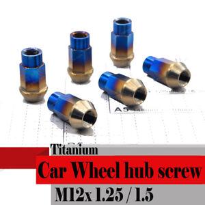 Titanium M12 M14 Car Wheels Tyre Hub Nut Screws Cover Special Socket Dust Proof