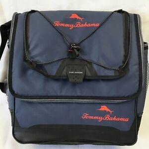 TOMMY BAHAMA Deep Freeze Soft Cooler Bag in Blue - Folds Up Like Messenger Bag