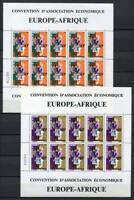 29673) DAHOMEY 1967 MNH** EUROPAFRIQUE MS X 2