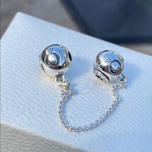 Genuine PANDORA Essence Silver 5cm Safety Chain - 796077