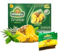 GREEN TEA Camellia Sinensis TE VERDE 20 WRAPPED TEA BAG ANTIOXIDANTS pineapple