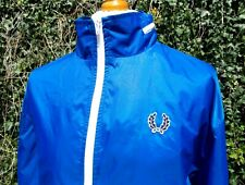 """Fred Perry Blue Hooded Windcheater Jacket - XL