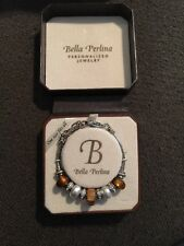 BELLA PERLINA CRYSTAL EUROPEAN CHARM BEAD BRACELET BEADS NEW