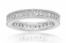 1.50 ct Ladies Round Cut Diamond Eternity Wedding Band Ring F Color VS2 Clarity