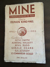 """APR 1935 """"MINE"""" CHILDRENS SMALL BOOK WITH DUSTJACKET (STEPHEN KING-HALL)"""