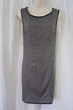 Studio M Dress Sz M Black Houndstooth Print Sleeveless Career Casual Dress