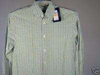 Best Izod LS Shirt Green White Heather Blue S Mens New