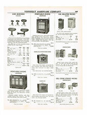 1938 AD GRISWOLD PORTABLE OVENS, FIREPLACE ENSEMBLES PEERLESS SPARK GUARD