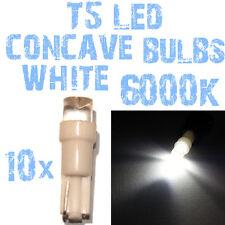 N° 10 Gloeilampen LED T5 Wit 6000K Concaaf Koplampen Angel Eyes DEPO FK 12v 2B4