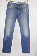 Replay Jeans Herren W 31 L 34 Sergio blau mit Leder used look top, Hose