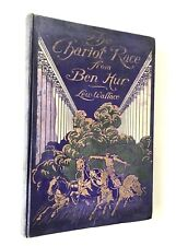 19 000004A2 08 Chariot Race Ben Hur Synopsis Wallace Tale of Christ 4 Color Plates Movie