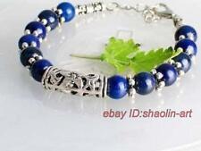 Bracelet perles de Céleste gems & argent tibétain, 18cm