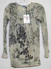 SPY ZONE EXCHANGE BOUTIQUE WOMENS TOP IN XSMALL HANDCRAFTED CELEBRITY 3812