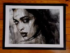 """"""" Mia """"  Peinture Originale sur Toile de  Leanne Dolan , Street Art"""